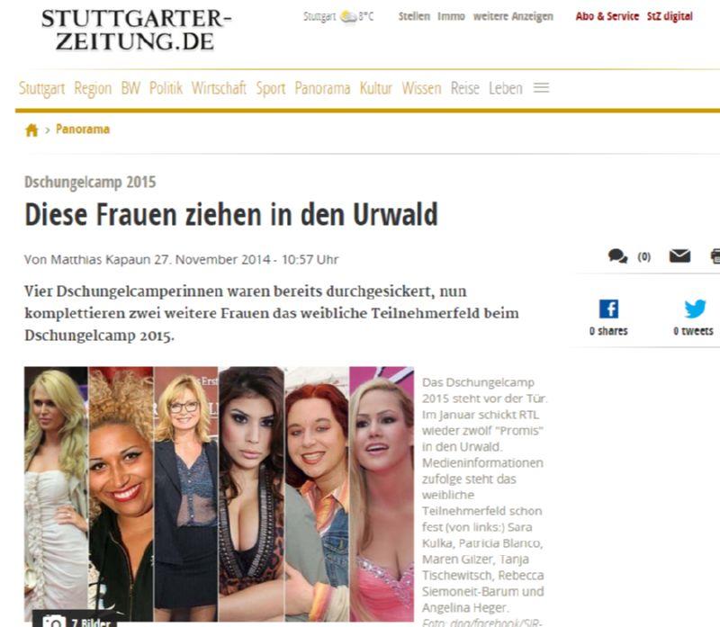 Dschungelcamp 2015  Diese Frauen ziehen in den Urwald - Panorama - Stuttgarter Zeitung