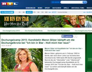 Dschungelcamp 2015  Kandidatin Maren Gilzer kämpft um die Dschungelkrone bei  Ich bin in Star - Holt mich hier raus!  - RTL.de (2)