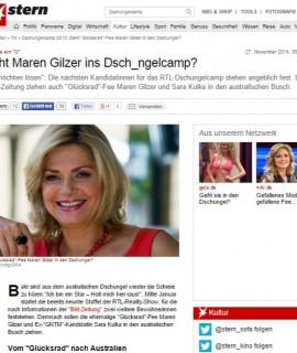 Dschungelcamp 2015  Zieht  Glücksrad -Fee Maren Gilzer in den Dschungel  - Kultur   STERN.DE