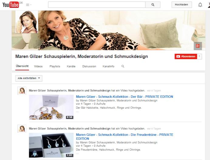 Maren Gilzer Schauspielerin, Moderatorin und Schmuckdesign - YouTube